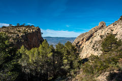 Rocky mountains in Alicante Royalty Free Stock Photography