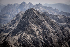 Rocky mountains of the Allgau Alps. In Bavaria, Germany Royalty Free Stock Image