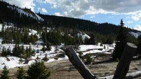 Rocky Mountains au printemps banque de vidéos