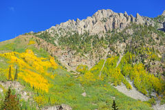 Rocky Mountains in Autumn Foliage Stock Photography