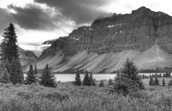 Rocky Mountains B & W Royalty Free Stock Photo