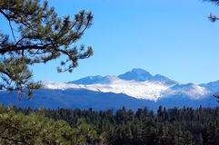 Rocky Mountains Background Backdrop Picture Clear Blue Sky Royalty Free Stock Photos