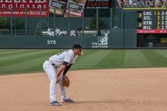 Rocky Mountains-Baseball-Spieler Nolan Arenado Lizenzfreies Stockfoto