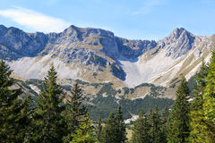 Rocky mountains in Bavaria Royalty Free Stock Photos