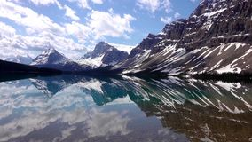 Rocky Mountains, Bow lake in Banff National Park, Canada stock photo