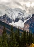 The Rocky Mountains in British Columbia on an overcast autumn day Stock Photo