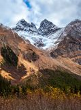 The Rocky Mountains in British Columbia on an overcast autumn day Royalty Free Stock Image