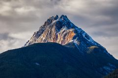 The Rocky Mountains in British Columbia on an overcast autumn day Royalty Free Stock Photography