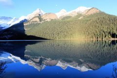 Rocky Mountains - Canada. Rocky mountains, forest and lake, Canada stock photography