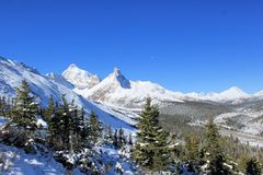 Rocky Mountains - Canada. Rocky mountains, Canada at Wintertime stock photography