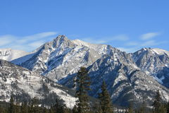 Rocky mountains, canada. Banff national park, winter in canada Royalty Free Stock Photography