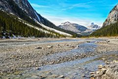 Rocky Mountains, Canada. Scenic view of the Rocky Mountains, Canada royalty free stock image