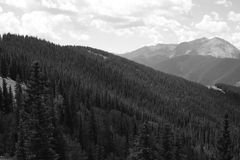 Rocky Mountains cerca de Aspen Colorado Imagen de archivo