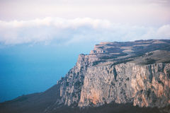 Rocky Mountains cliff and clouds Landscape Royalty Free Stock Photos