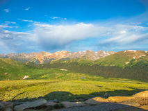 Rocky mountains Colorado. Landscape of Rocky Mountain National Park along the Trail Ridge Road in the early morning, the northwest town of Boulder, Colorado Royalty Free Stock Photos