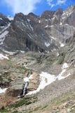 Rocky Mountains, Colorado. Colorado landscape - Rocky Mountain National Park in USA. Tourist trail to Longs Peak stock photo