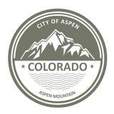 Rocky Mountains - Colorado sitiados por la nieve, Aspen stock de ilustración