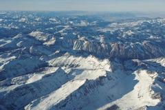 Rocky Mountains d'en haut photographie stock libre de droits