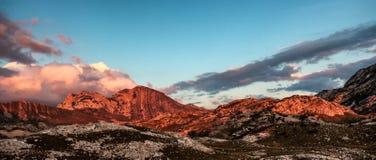 Rocky Mountains da caixa de letra de Montenegro Fotos de Stock
