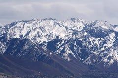 Rocky Mountains dichtbij Salt Lake Royalty-vrije Stock Afbeeldingen