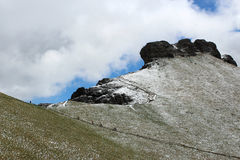 Rocky Mountains Dolomites nevado - os cumes italianos Fotografia de Stock