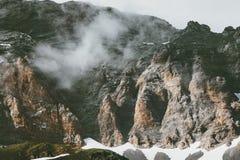 Rocky Mountains e paesaggio delle nuvole Fotografie Stock