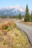 rocky mountains in fall Royalty Free Stock Photo