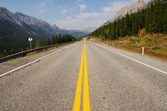 Rocky mountains and highway Royalty Free Stock Photography