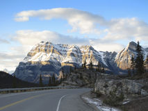 Rocky Mountains in Jasper National Park Royalty Free Stock Images