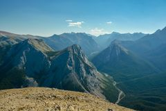 Rocky Mountains in Jasper National Park Stock Images