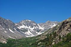 Rocky Mountains in Juli Stock Fotografie