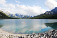 Rocky mountains and lake Stock Photography