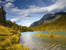 Rocky Mountains, Lake Minnewanka, Canada Stock Image