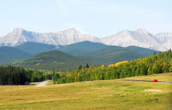 Rocky mountains landscape stock image