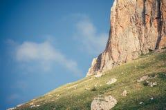 Rocky Mountains Landscape blue sky on background Stock Photos