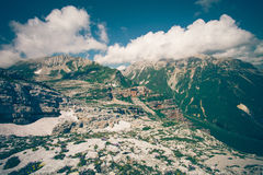 Rocky Mountains Landscape blue sky with clouds Royalty Free Stock Photography