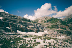 Rocky Mountains Landscape blue sky with clouds Royalty Free Stock Photo