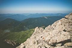 Rocky Mountains Landscape blue sky Summer Travel Stock Photos