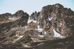 Rocky Mountains Landscape. Summer Travel wild nature scenery Royalty Free Stock Photos