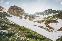 Rocky Mountains Landscape Travel serene scenery. View wild nature Royalty Free Stock Image