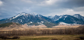 Rocky mountains in montana. Rocky mountains landscapes in montana yellowstone national park royalty free stock images