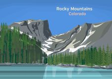 Rocky Mountains, Mountain Range Royalty Free Stock Photo