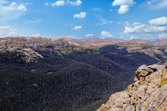 Rocky Mountains is a mountain range in the USA royalty free stock images