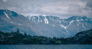 Rocky mountains nature scenes on alaska british columbia border stock photography