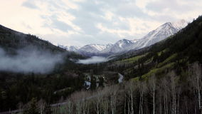 Rocky Mountains near to famous Aspen, Colorado stock video