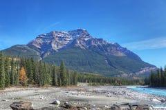 Rocky Mountains nel Canada con il letto di insenatura in priorità alta Immagine Stock Libera da Diritti