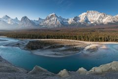 Free Rocky Mountains On A Autumn Day Jasper National Park In The Canadian Rockies. Alberta Canada Scenic Landscape In Jasper National P Royalty Free Stock Photos - 160095848