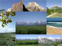 Rocky Mountains Outdoors Collage cênico foto de stock royalty free