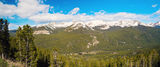 Rocky Mountains Panorama Royalty Free Stock Photography