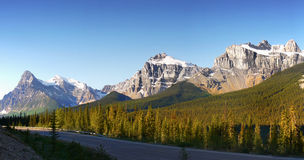 Canadian Rockies Parkway Icefields Banff Highway Royalty Free Stock Photo